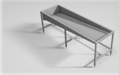 Conception et réalisation de machines et outils spéciaux : bac de rinçage